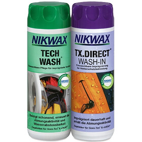 Nikwax Tech Wash + TX.Direct Wash-In 2 x 300 ml colourful